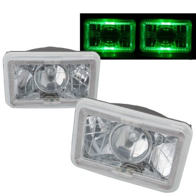 1985 VW Scirocco Green Halo Sealed Beam Projector Headlight Conversion