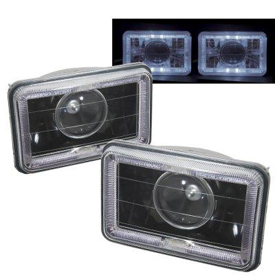 Dodge Dakota 1987-1990 Halo Black Sealed Beam Projector Headlight Conversion