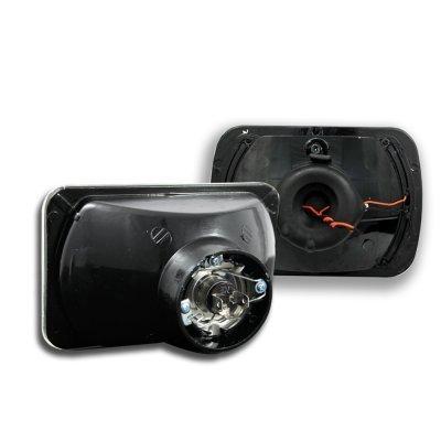 Honda CRX 1984-1985 Red Halo Black Sealed Beam Projector Headlight Conversion