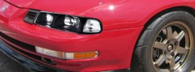 Honda Prelude 1992-1996 JDM Black Headlights with Clear Corner Lights