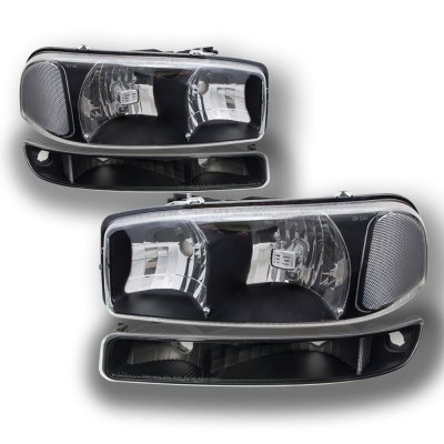 on 2005 gmc sierra black clear headlights and led tail lights. Black Bedroom Furniture Sets. Home Design Ideas