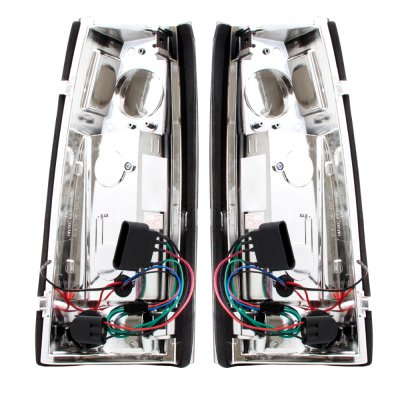 GMC Sierra 2500 1988-1998 LED Tail Lights Red and Smoked