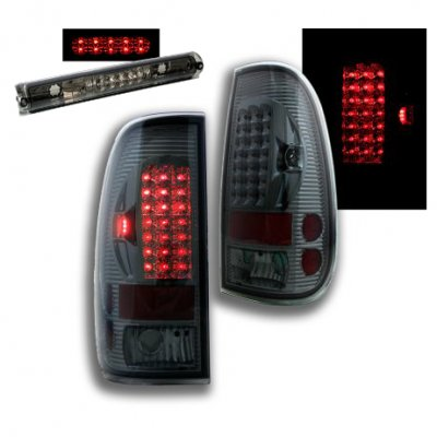 Ford F150 1997-2003 Smoked LED Tail Lights and Third Brake Light
