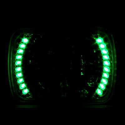 Chevy Corvette 1984-1996 7 Inch Green LED Sealed Beam Headlight Conversion