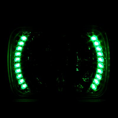 Ford Bronco 1979-1986 7 Inch Green LED Sealed Beam Headlight Conversion