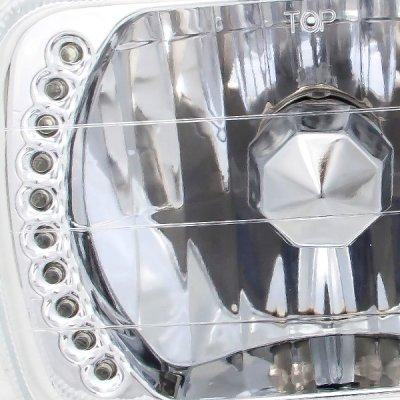 Dodge Ram 350 1981-1993 7 Inch Green LED Sealed Beam Headlight Conversion