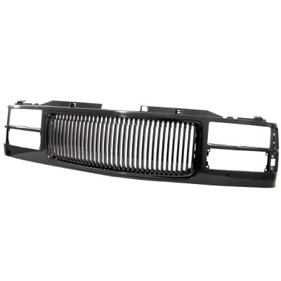 GMC Sierra 1994-1998 Front Grill Black Vertical Bars