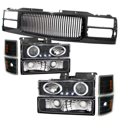 1994 1995 1996 1997 1998 1999 CHEVY SUBURBAN GRILLE CHROME BLACK NEW