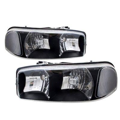 Gmc Sierra 3500 2001 2007 Black Euro Headlights A103940t102 Topgearautosport