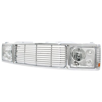 1994 Chevy 1500 Pickup Chrome Billet Grille and Headlight Conversion Kit