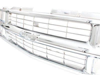 Chevy Tahoe 1995-1999 Chrome Grille and Headlights LED Bumper Lights