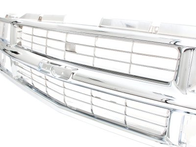 Chevy 1500 Pickup 1994-1998 Chrome Grille and LED DRL Headlights Set