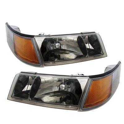 Mercury Grand Marquis 1998-2002 Smoked Euro Headlights and Corner Lights