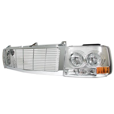 Chevy Suburban 2000-2006 Chrome Grille and Headlight Facelift Conversion Kit