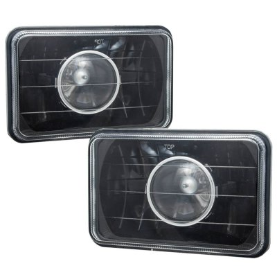Eagle Talon 1990-1991 4 Inch Black Sealed Beam Projector Headlight Conversion