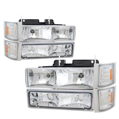 1994 Chevy Blazer Full Size Headlights And Led Tail Lights Red Clear