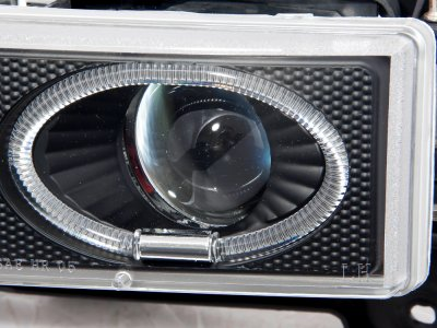 chevy silverado 1994 1998 black halo projector headlights. Black Bedroom Furniture Sets. Home Design Ideas