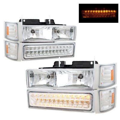 Chevy Tahoe 1995-1999 Headlights and LED Bumper Lights