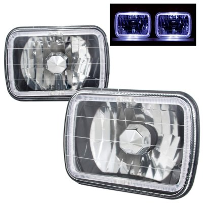 1980 Chevy Citation Black 7 Inch Halo Sealed Beam Headlight Conversion