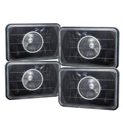 Cadillac Eldorado 1975-1985 4 Inch Black Sealed Beam Projector Headlight Conversion Low and High Beams