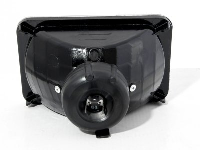 GMC Caballero 1984-1986 4 Inch Black Sealed Beam Projector Headlight Conversion Low and High Beams