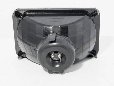 Dodge Dakota 1987-1990 Black Chrome Sealed Beam Headlight Conversion