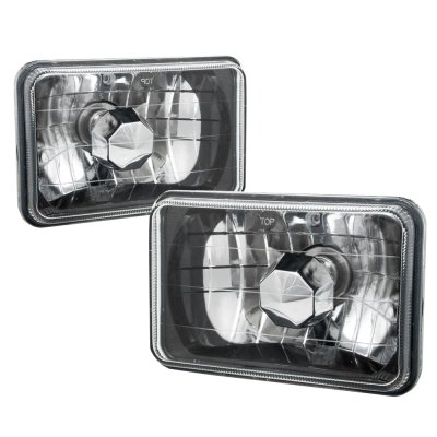 GMC Caballero 1984-1986 Black Chrome Sealed Beam Headlight Conversion