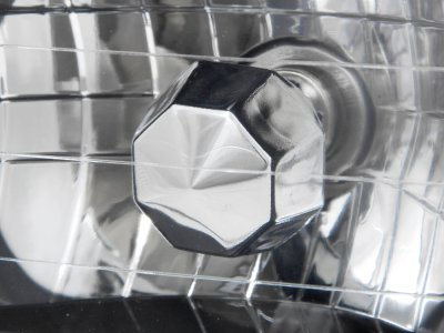 Chevy Celebrity 1982-1986 Black Chrome Sealed Beam Headlight Conversion Low and High Beams