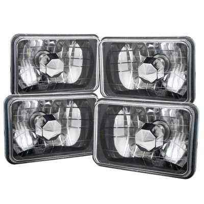 Ford LTD Crown Victoria 1988-1991 Black Chrome Sealed Beam Headlight Conversion Low and High Beams
