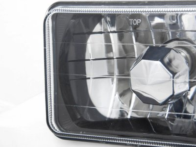 1985 GMC Caballero Black Chrome Sealed Beam Headlight Conversion Low and High Beams