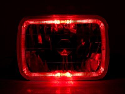 1989 Dodge Ram Van Red Halo Sealed Beam Headlight Conversion
