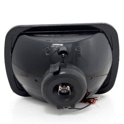 GMC Savana 1996-2004 Red Halo Black Chrome Sealed Beam Headlight Conversion