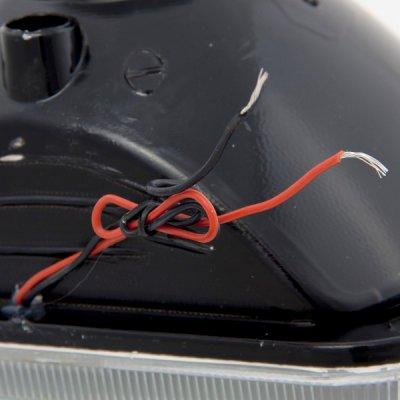 Subaru XT 1985-1991 Red Halo Black Chrome Sealed Beam Headlight Conversion