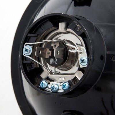 Porsche 911 1969-1986 Blue Halo Black Sealed Beam Projector Headlight Conversion