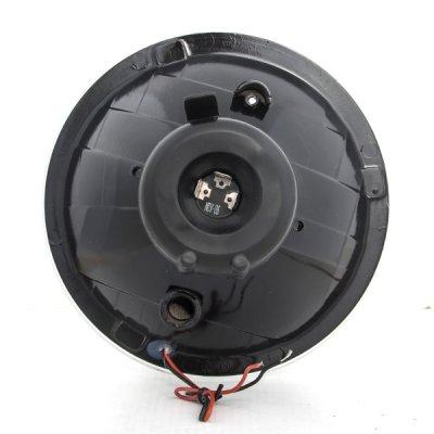 Chevy Suburban 1967-1973 Blue Halo Black Sealed Beam Projector Headlight Conversion