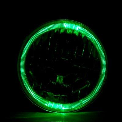 Hummer H1 2002-2006 Green Halo Black Sealed Beam Projector Headlight Conversion