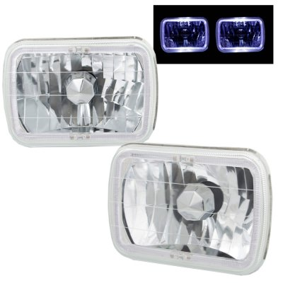 1994 GMC Safari White Halo Sealed Beam Headlight Conversion