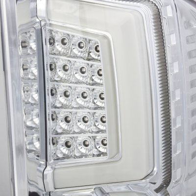 Chevy Silverado 2500HD 2007-2014 Custom LED Tail Lights Chrome Clear