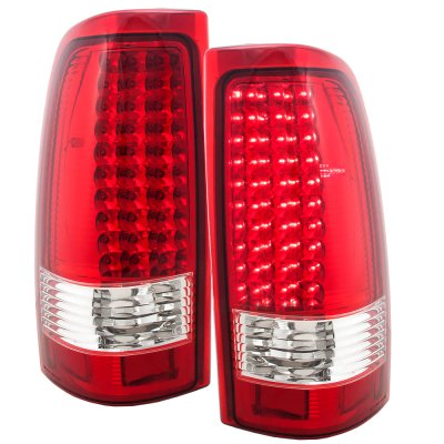 Chevy Silverado 2003 2006 Led Tail Lights Red Clear