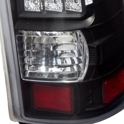Chevy Silverado 2500HD 2001-2002 LED Tail Lights Black and Clear