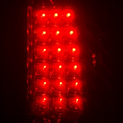 Chevy Silverado 1999-2002 LED Tail Lights Red and Smoked