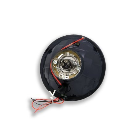 Cadillac Deville 1961-1972 Red Halo Black Sealed Beam Headlight Conversion Low and High Beams