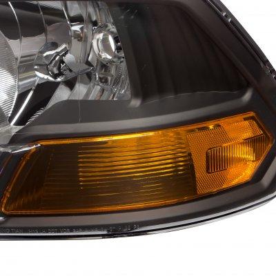 Dodge Ram 2009-2018 Crystal Headlights Black