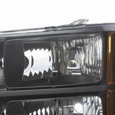 GMC Sierra 2007-2013 Black Euro Headlights