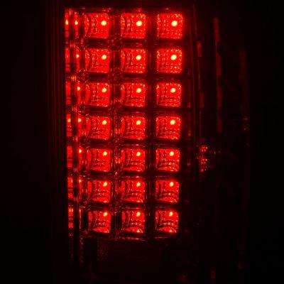 Dodge Ram 2500 2007-2009 LED Tail Lights Chrome Clear