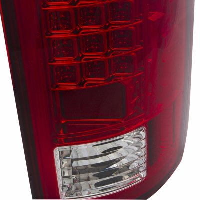 Dodge Ram 2500 2007-2009 LED Tail Lights Red Clear