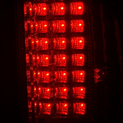 Dodge Ram 3500 2007-2009 LED Tail Lights Red Clear