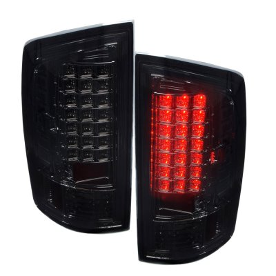 Dodge Ram 3500 2007-2009 LED Tail Lights Smoked