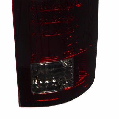 Dodge Ram 2500 2007-2009 LED Tail Lights Red Smoked
