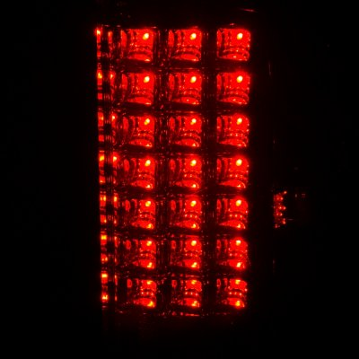 Dodge Ram 3500 2007-2009 LED Tail Lights Red Smoked
